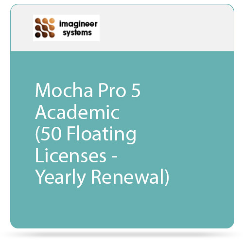 Imagineer Systems Mocha Pro 5 Academic (50 Floating Licenses - Yearly Renewal)