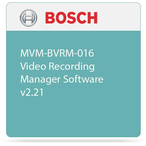 Bosch MVM-BVRM-016 Video Recording Manager Software v2.21
