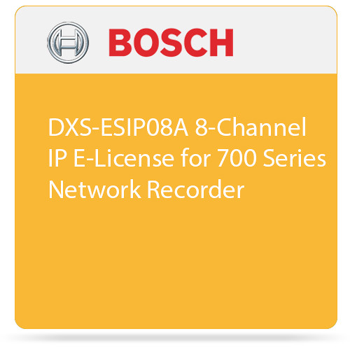 Bosch DXS-ESIP08A 8-Channel IP E-License for 700 Series Network Recorder