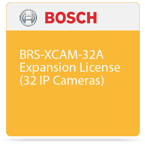 Bosch BRS-XCAM-32A Expansion License (32 IP Cameras)