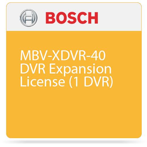 Bosch MBV-XDVR-40 DVR Expansion License (1 DVR)