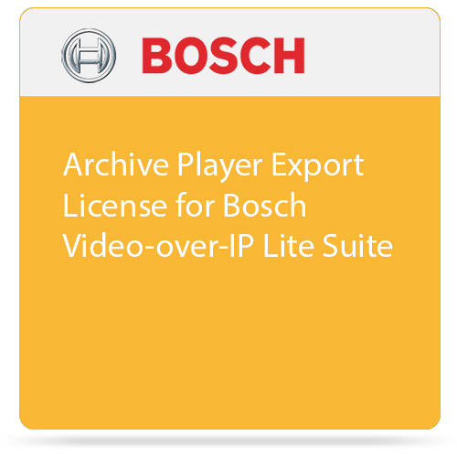 Bosch Archive Player Export License for Bosch Video-over-IP Lite Suite