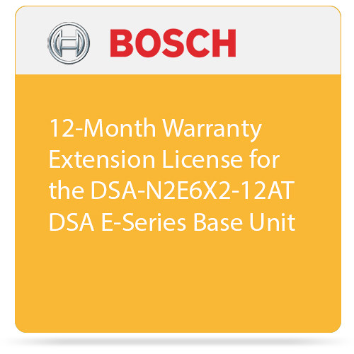 Bosch 12-Month Warranty Extension License for the DSA-N2E6X2-12AT DSA E-Series Base Unit