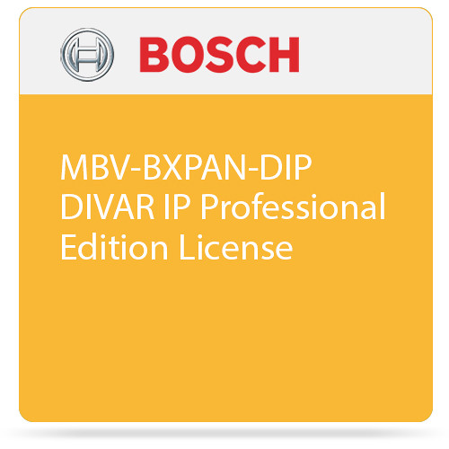 Bosch MBV-BXPAN-DIP DIVAR IP Professional Edition License