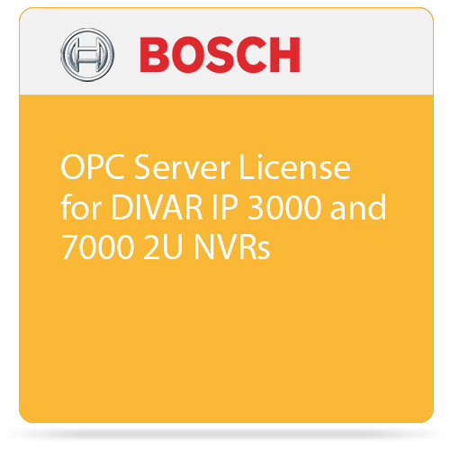 Bosch OPC Server License for DIVAR IP 3000 and 7000 2U NVRs