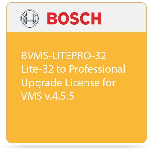 Bosch BVMS-LITEPRO-32 Lite-32 to Professional Upgrade License for VMS v.4.5.5