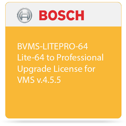 Bosch BVMS-LITEPRO-64 Lite-64 to Professional Upgrade License for VMS v.4.5.5
