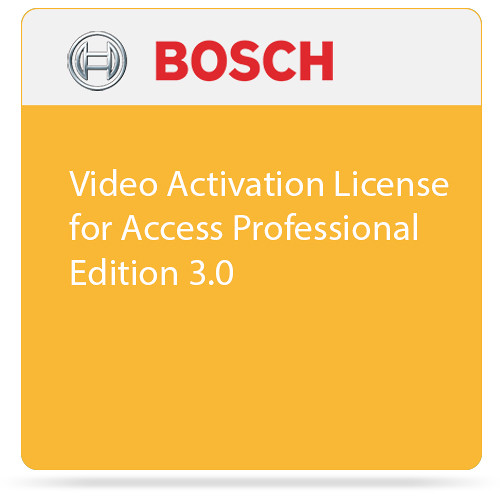 Bosch Video Activation License for Access Professional Edition 3.0