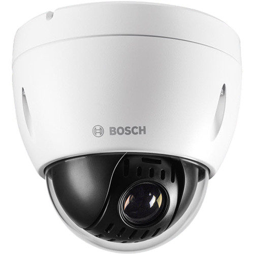 Bosch NEZ-4112-PPCW4 AUTODOME IP 4000 HD 12x 1MP Camera with 5.1 to 61.2mm Varifocal Lens and Clear Bubble (White)
