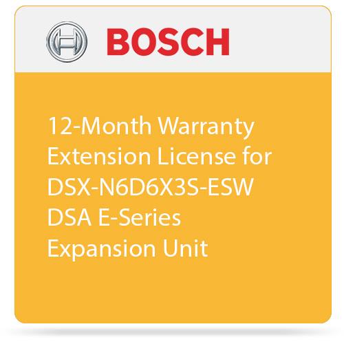 Bosch 12-Month Warranty Extension License for DSX-N6D6X3S-ESW DSA E-Series Expansion Unit