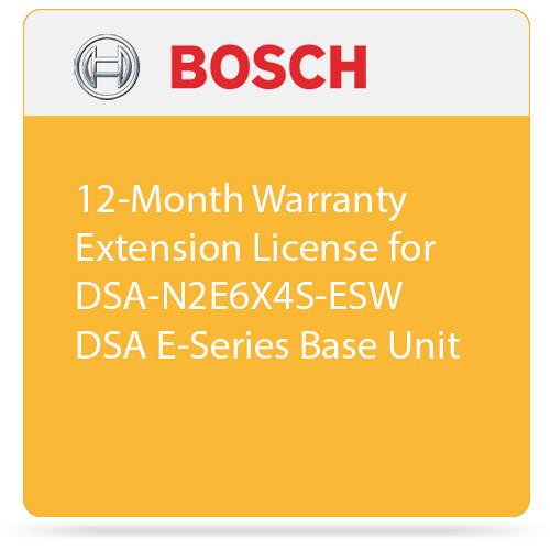 Bosch 12-Month Warranty Extension License for DSA-N2E6X4S-ESW DSA E-Series Base Unit