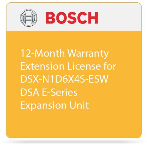 Bosch 12-Month Warranty Extension License for DSX-N1D6X4S-ESW DSA E-Series Expansion Unit