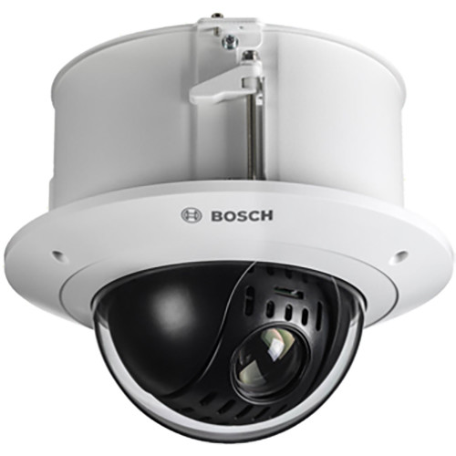 Bosch NEZ-4212-CPCW4 AUTODOME IP 4000 HD 12x 2MP Camera with 5.1 to 61.2mm Varifocal Lens and Clear Bubble (White)
