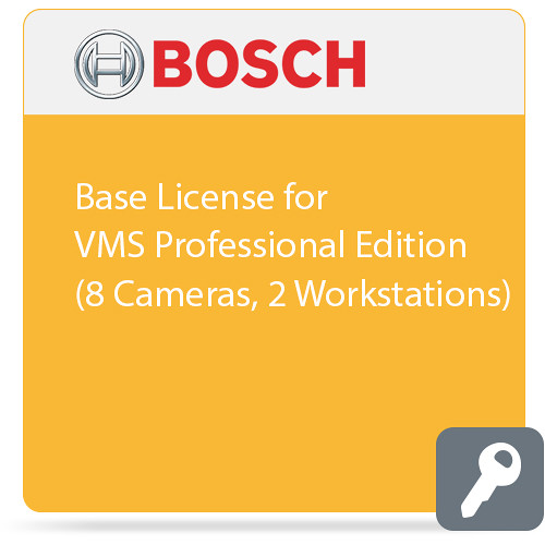 Bosch Base License for VMS Professional Edition (8 Cameras, 2 Workstations)