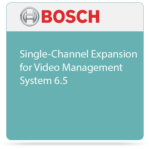 Bosch Single-Channel Expansion for Video Management System 6.5