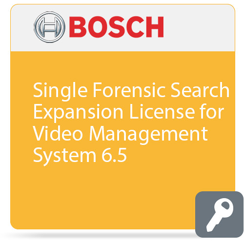 Bosch Single Forensic Search Expansion License for Video Management System 6.5