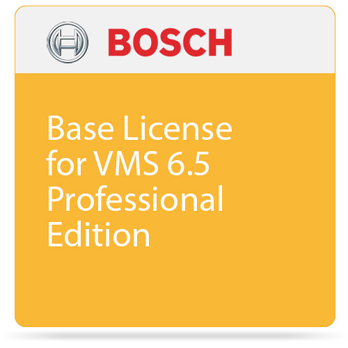 Bosch Base License for VMS 6.5 Professional Edition