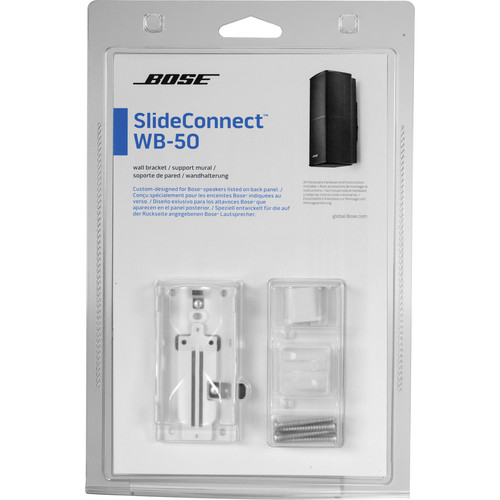 bose slideconnect wb 50 wall bracket white 716402 0020 b h. Black Bedroom Furniture Sets. Home Design Ideas