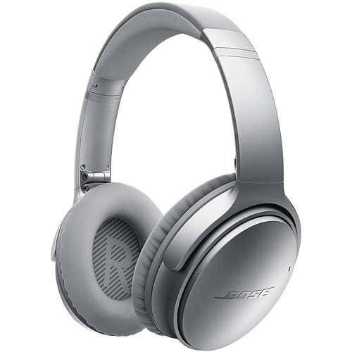Bose QuietComfort 35 Wireless Noise Cancelling Headphones (Silver)