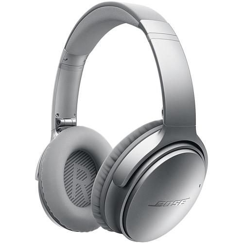 Bose QuietComfort 35 Wireless Noise Cancelling Headphones (Silver)