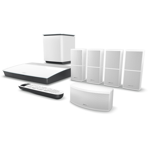 Bose Lifestyle 600 Home Theater System with Jewel Cube Speakers (White)