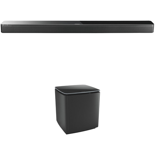 Bose SoundTouch 300 Soundbar and Acoustimass 300 Wireless Bass Module Kit (Black)
