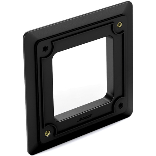 Bose Professional Trim Plate Kit for Select FreeSpace Loudspeakers In-Wall Junction Box (Single, Black)