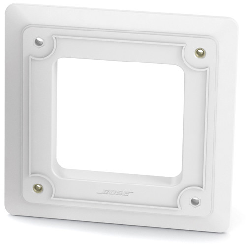 Bose Professional Trim Plate Kit for Select FreeSpace Loudspeakers In-Wall Junction Box (Single, White)