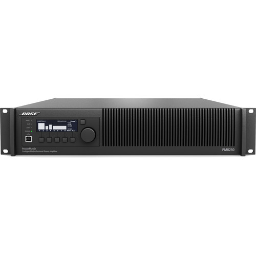 Bose Professional PowerMatch PM8250N Power Amplifier with Ethernet Network Control (2RU)