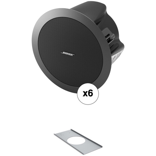 Bose Professional Freespace DS 16F Contractor 6-Pack with 6 DS 16F Speakers and 6 Tile Bridges (Black)