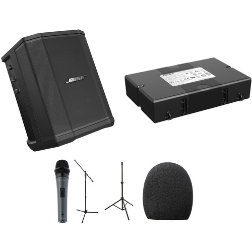 Bose S1 Pro PA System Kit with Battery Pack, Microphone, and Stands