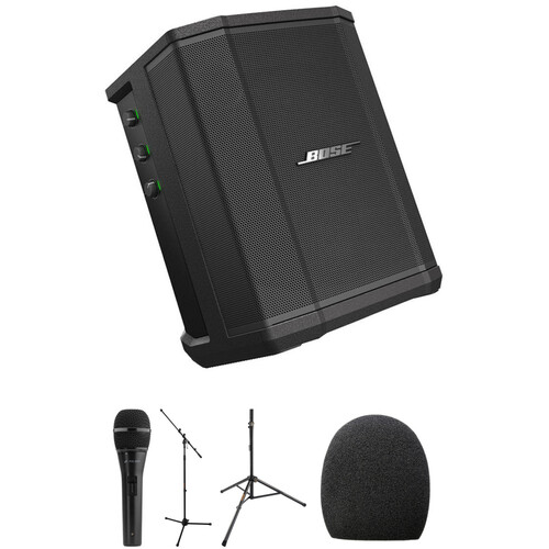 Bose S1 Pro Perfrormance Kit with Speaker Stand, Microphone, Mic Stand, and Accessories