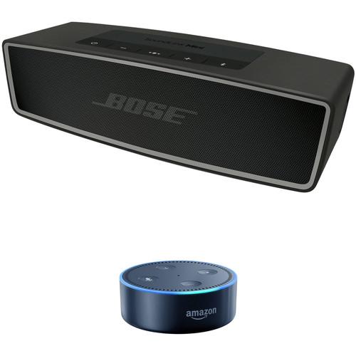 Bose SoundLink Mini Bluetooth Speaker II (Carbon) with Amazon Echo Dot (2nd Gen, Black) Kit