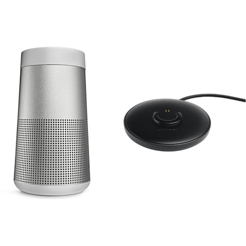Bose SoundLink Revolve Bluetooth Speaker with Charging Cradle (Lux Gray)