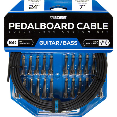 BOSS BCK-24 Solderless Pedalboard Cable Kit (24 Connectors, 24' Cable)