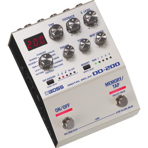 BOSS DD-200 Digital Delay Pedal for Electric Guitars