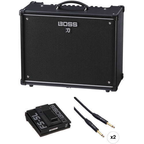 BOSS Katana-100 Guitar Amplifier and Single Footswitch Kit