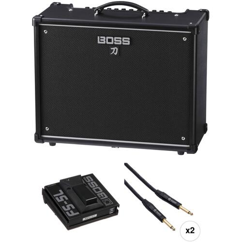 BOSS Katana-100 Guitar Amplifier and Single Footswitch Kit