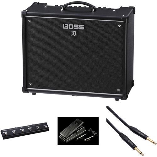 BOSS Katana-100 Guitar Amplifier, Foot Controller, and Expression Pedal Kit