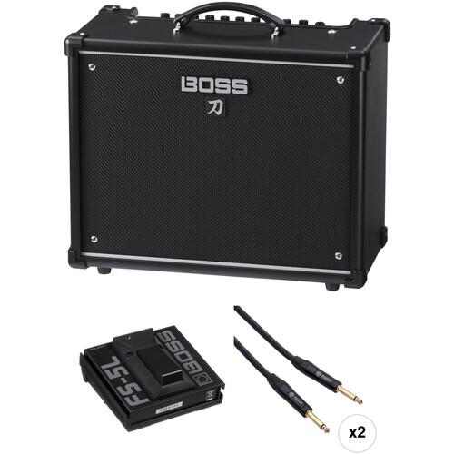 BOSS Katana-50 Guitar Amplifier and Single Footswitch Kit