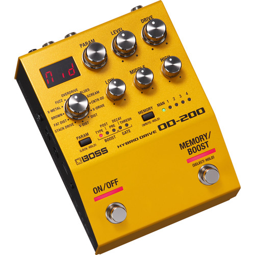 BOSS OD-200 Hybrid Drive Pedal for Electric Guitars