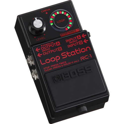 BOSS RC-1-BK Loop Station Pedal (Limited-Edition Black with Red Lettering)