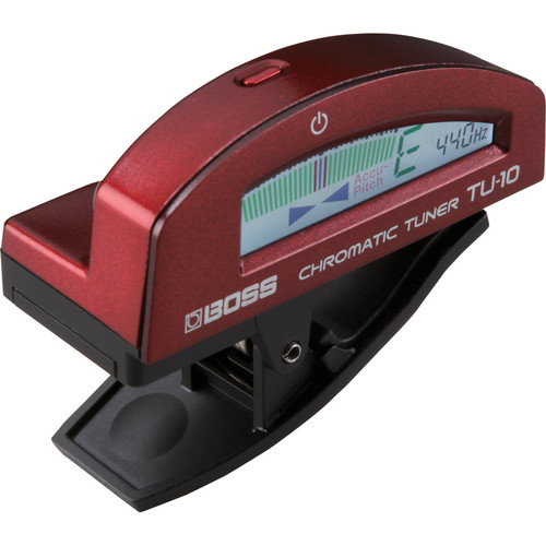 BOSS TU-10 Clip-On Chromatic Tuner (Red)
