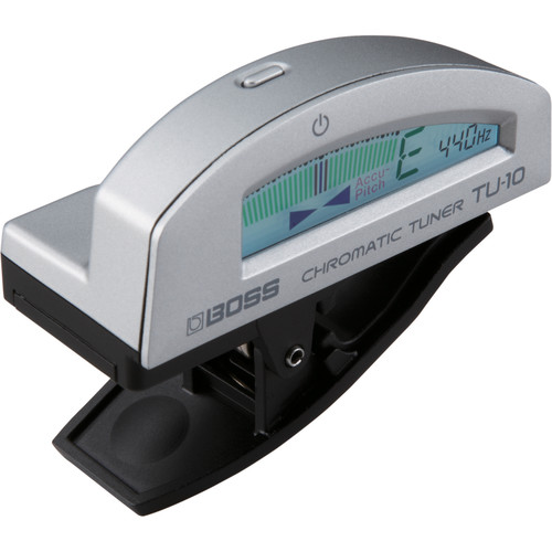 BOSS TU-10 Clip-On Chromatic Tuner (Silver)