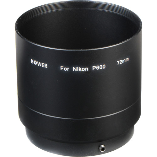 Bower 72mm Adapter Tube for Nikon COOLPIX P600 Digital Camera