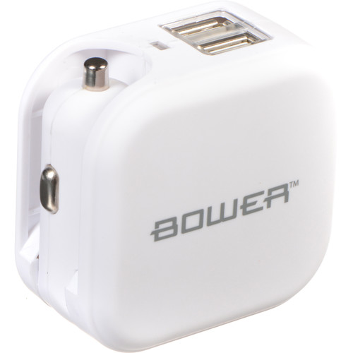 Bower USB Wall and Car Charger (White)
