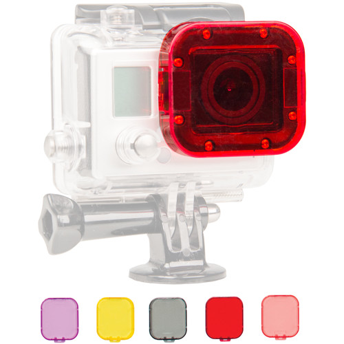 Bower Xtreme Action Series 6-Piece Filter Kit for GoPro Dive Housing for Hero 3, 3+ and 4