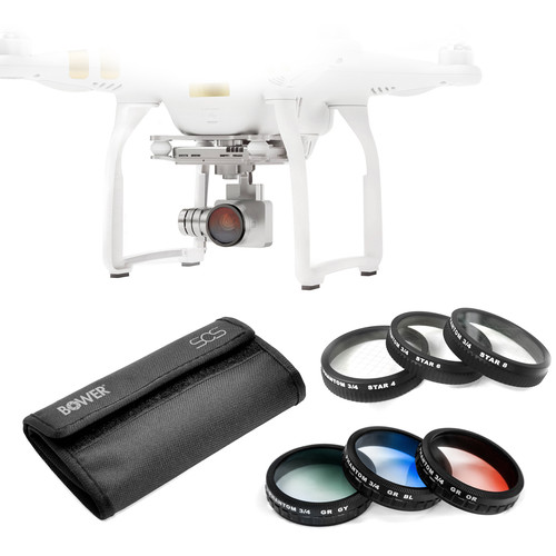Bower Sky Capture Series Special Effects Filter Kit for Select DJI Phantoms (6-Piece)