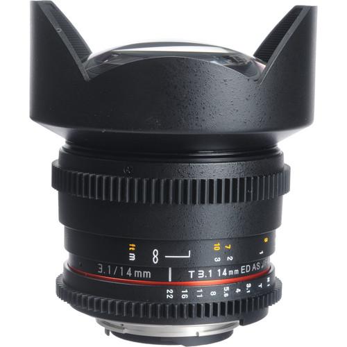 Bower 14mm T3.1 Super Wide-Angle Cine Lens For Nikon F Mount Cameras