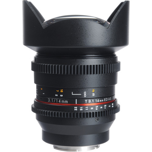 Bower 14mm T3.1 Super Wide-Angle Cine Lens For Samsung NX Mount Cameras
